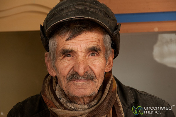 Iranian Man at Market - Hamadan, Iran