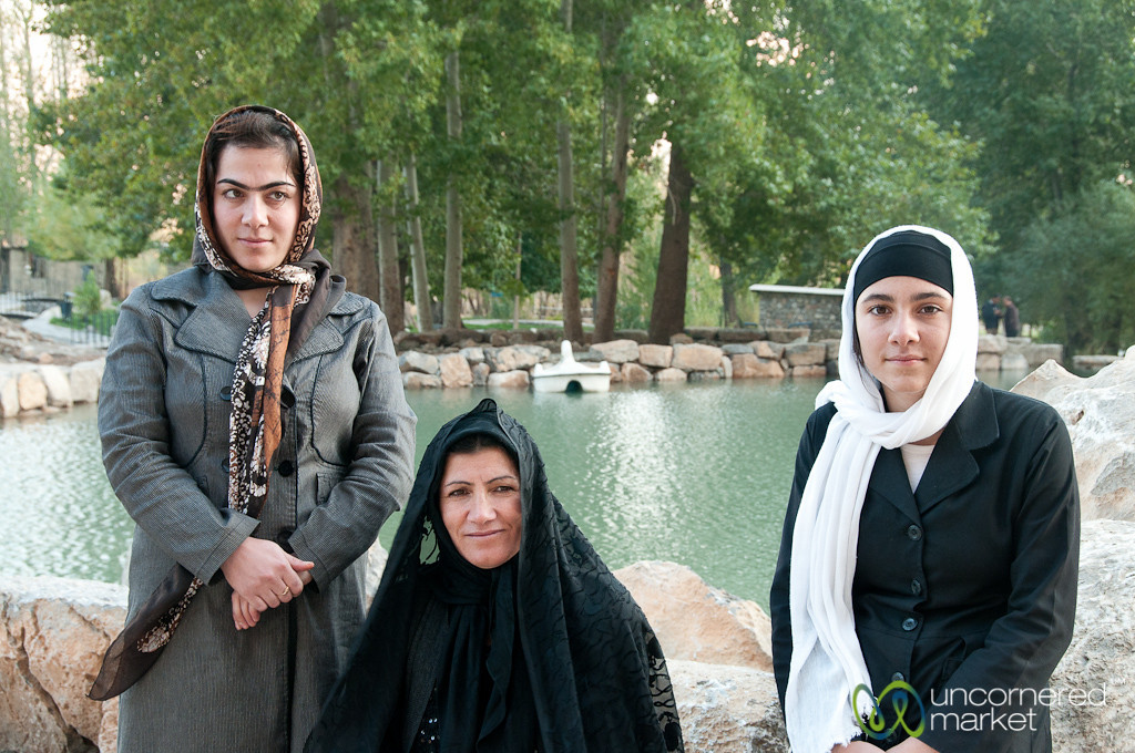 Iranian Family at Bisotun - Kermanshah, Iran