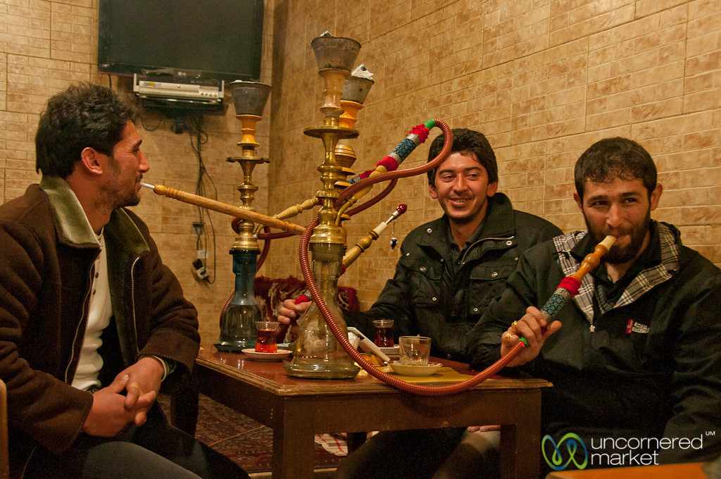 Qualyan (Water Pipe) at the Tea House - Ardebil, Iran