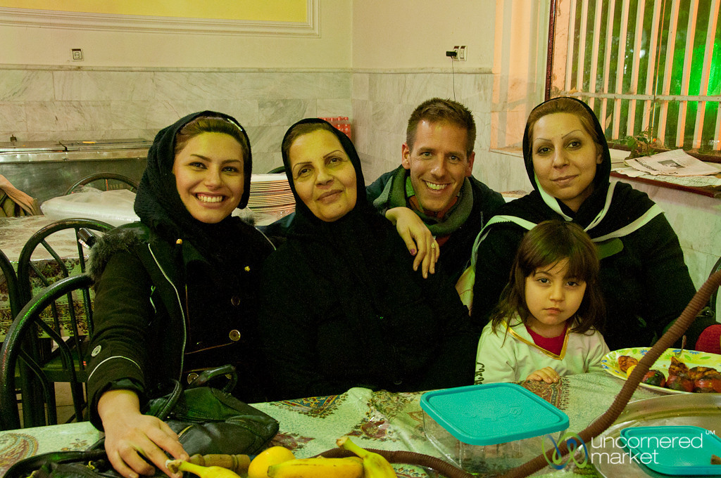 Dan with Iranian Family - Kermanshah, Iran