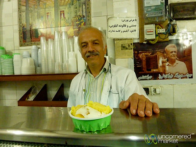 Homemade Ice Cream in Shiraz, Iran