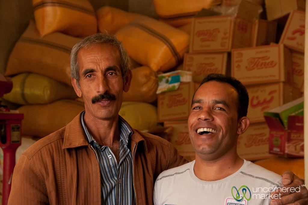 Iranian Men, Dry Goods Shop - Shiraz, Iran