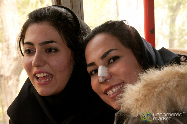 Iranian Woman with Recent Nose Job - Hamadan, Iran