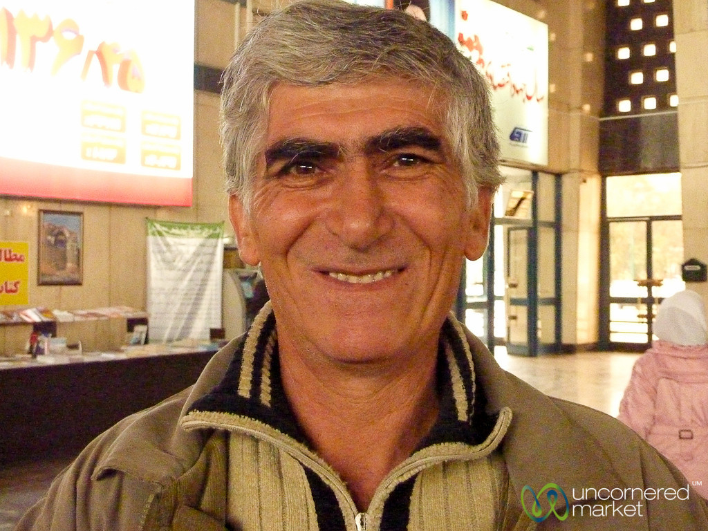 Our Iranian Guide in Tabriz, Iran
