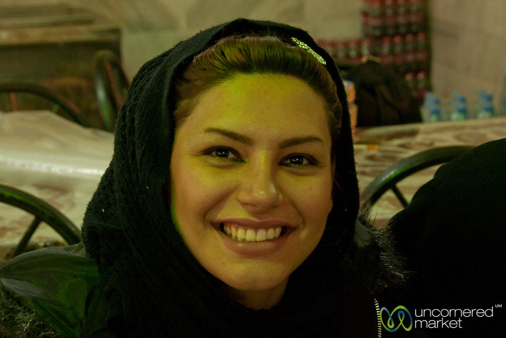Iranian Woman, Big Smile - Kermanshah, Iran