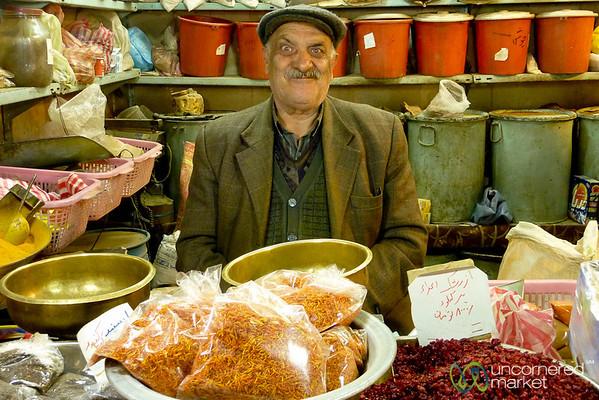 Spice Vendor, Funny Iranian Man - Esfahan, Iran