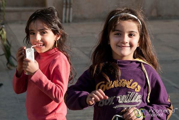 Iranian Girls Playing in Shiraz, Iran