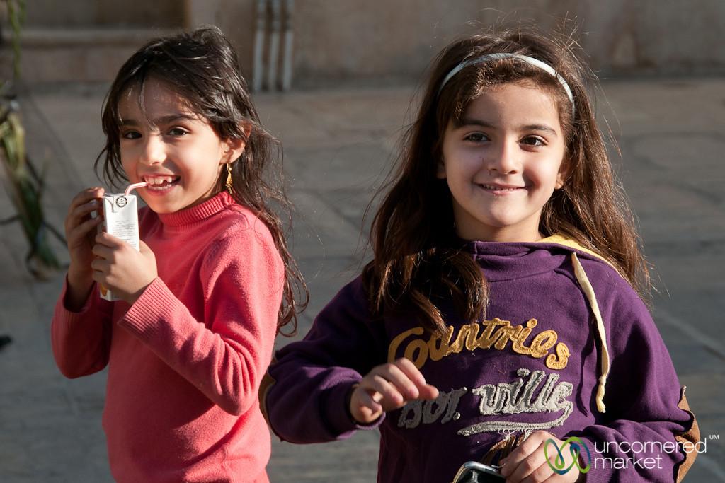 Iranian Girls Playing in Shiraz, Iran