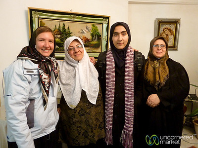 Audrey with Iranian Women - Tabriz, Iran