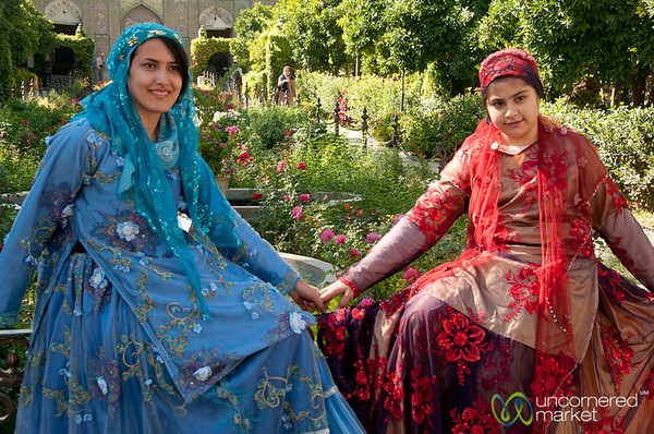 Iranian Sisters in Traditional Dress -Shiraz, Iran
