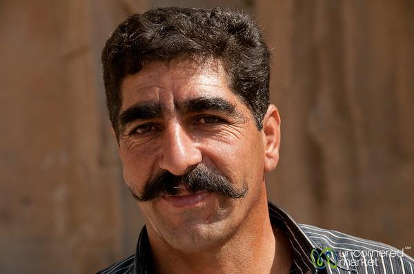 Iranian Man, Great Mustache - Persepolis, Iran