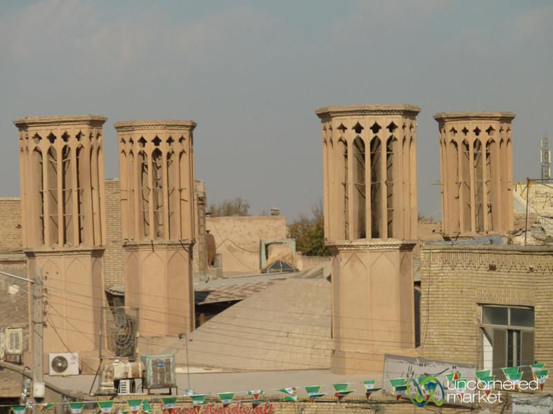 Traditional Windtowers (Badgirs) - Yazd, Iran