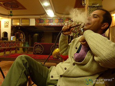 Smoking Shisha in Abyaneh, Iran