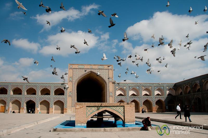 Jameh Mosque Courtyard - Esfahan, Iran