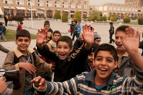 Iranian Boys in Esfahan, Iran