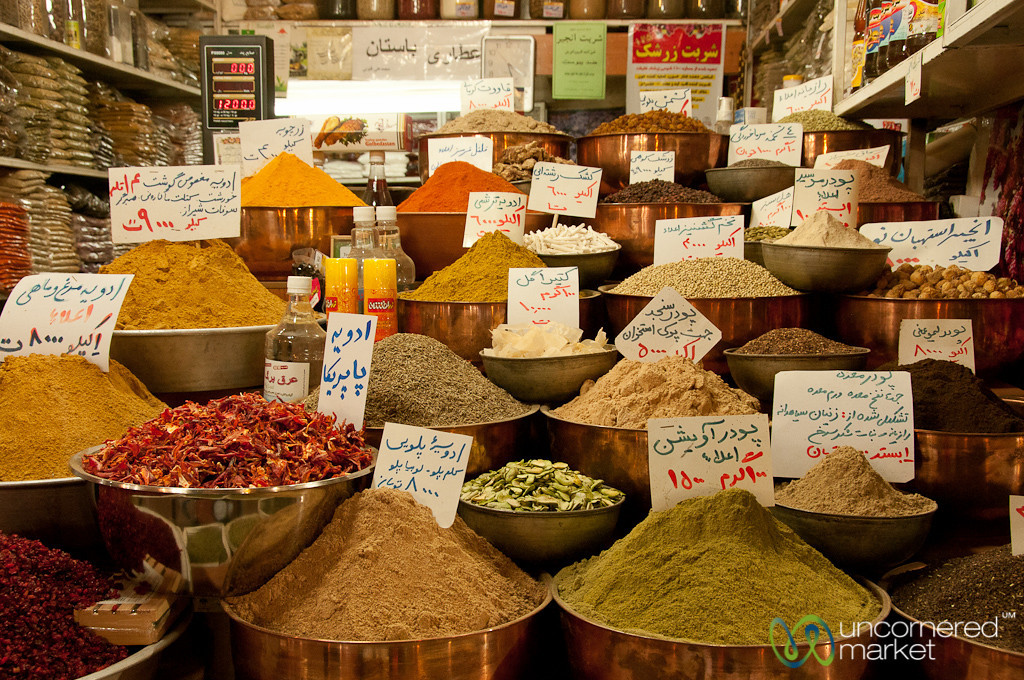Spice Stand at Shiraz Bazaar - Iran