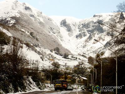 Snow Covered Mountains on Way to Astara, Iran