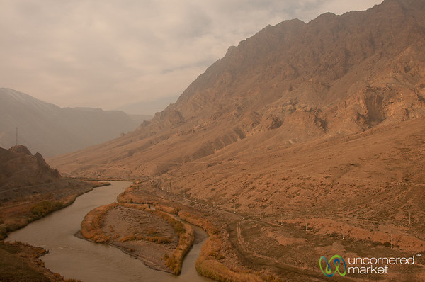 Aras River Border Between Iran and Azerbaijan