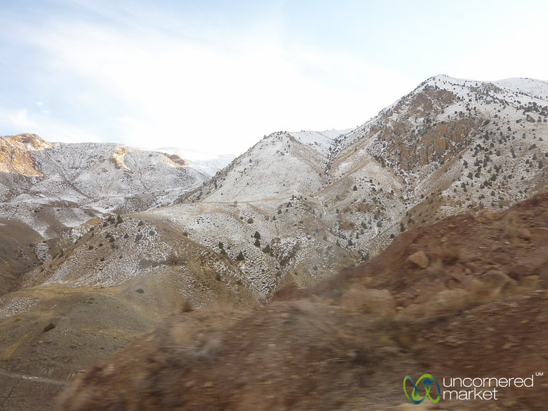 Snow-Covered Mountains on Iran-Turkey Border