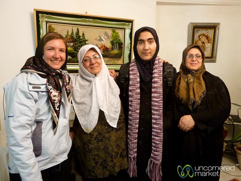 Audrey with Iranian Women - Tabriz, Iran