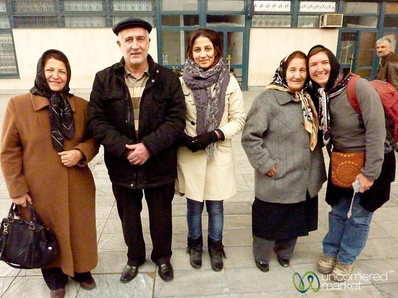 Iranian Family at Train Station - Tabriz, Iran