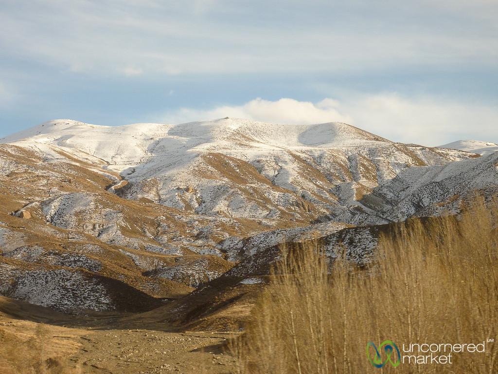 Snow-Covered Mountains on Iran-Turkey Border
