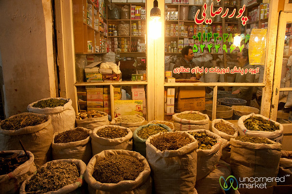 Herbs and Spices at Tabriz Market - Iran