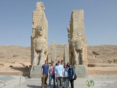 G Adventures Group at Persepolis, Iran