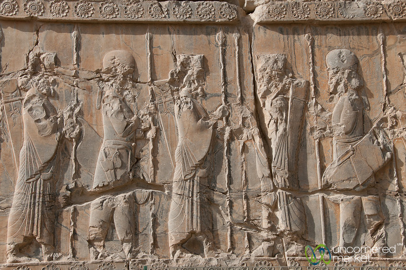 Persian and Median Soldier Reliefs - Persepolis, Iran