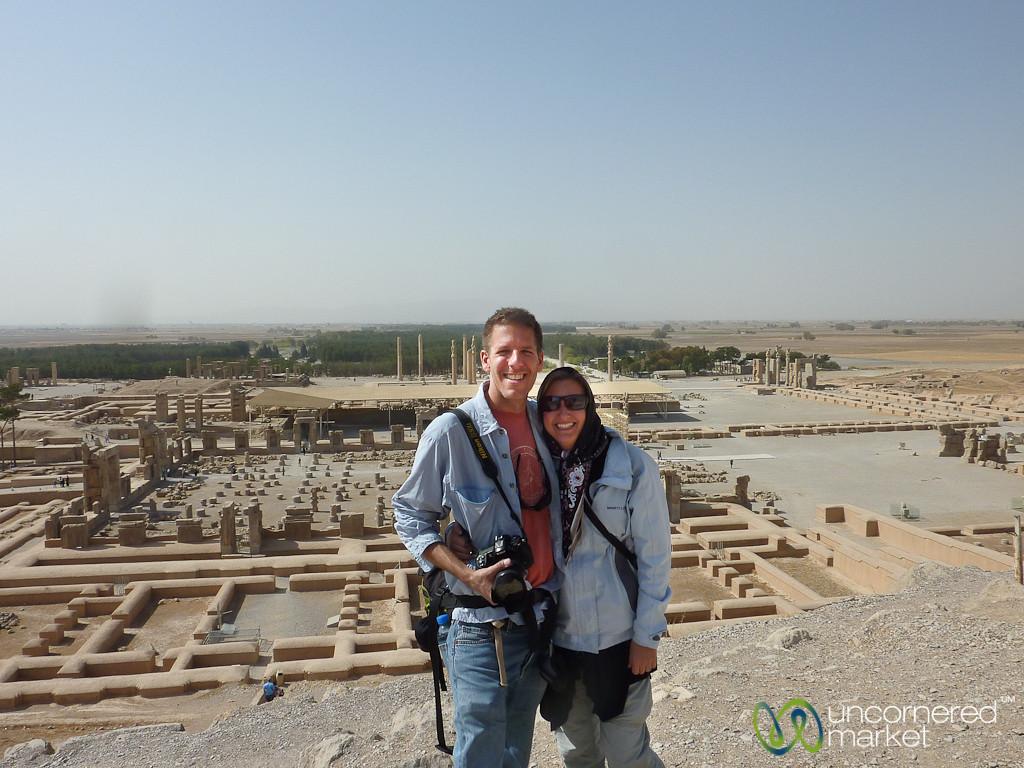 Audrey and Dan at Persepolis - Iran