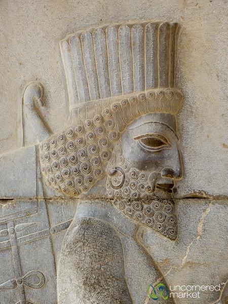 Persian Soldier Relief - Persepolis, Iran