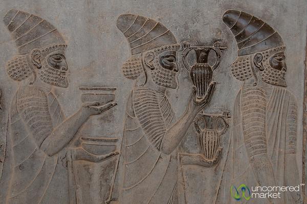 Apadana Palace Reliefs, Armenians with Wine - Persepolis, Iran