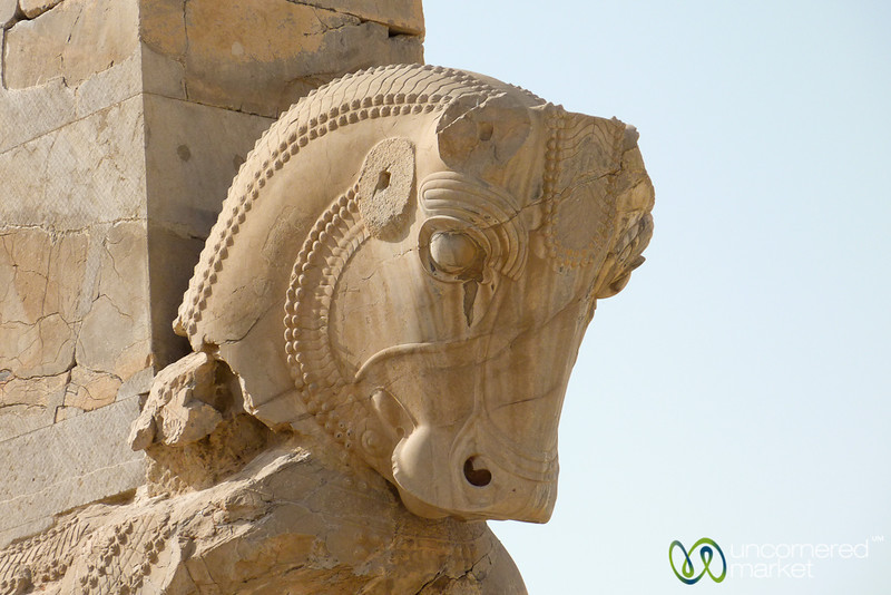 Head of a Bull Statue - Persepolis, Iran