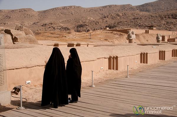 Iranian Women in Chador - Persepolis, Iran