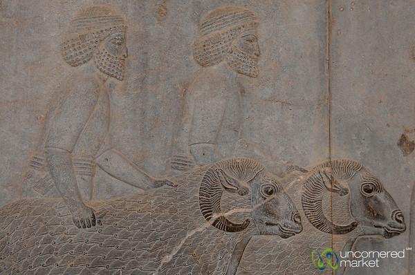 Apadana Palace Reliefs, Soldiers with Rams - Persepolis, Iran