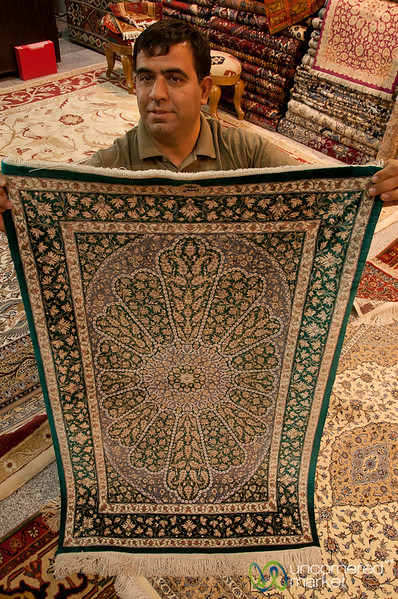 Silk Persian Carpet - Shiraz, Iran