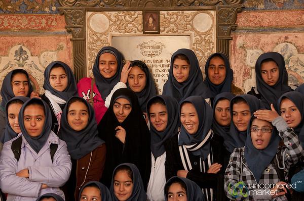Iranian Students in Vank Cathedral - Esfahan, Iran