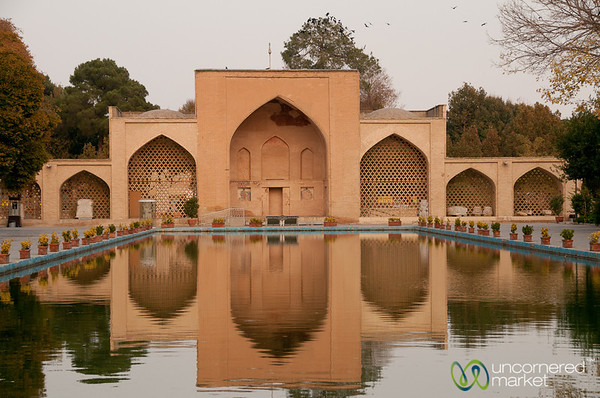 Reflections at Chehel Sotun Palace - Esfahan, Iran