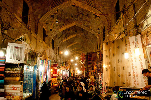 Inside Bazar-e Vakil in Shiraz, Iran