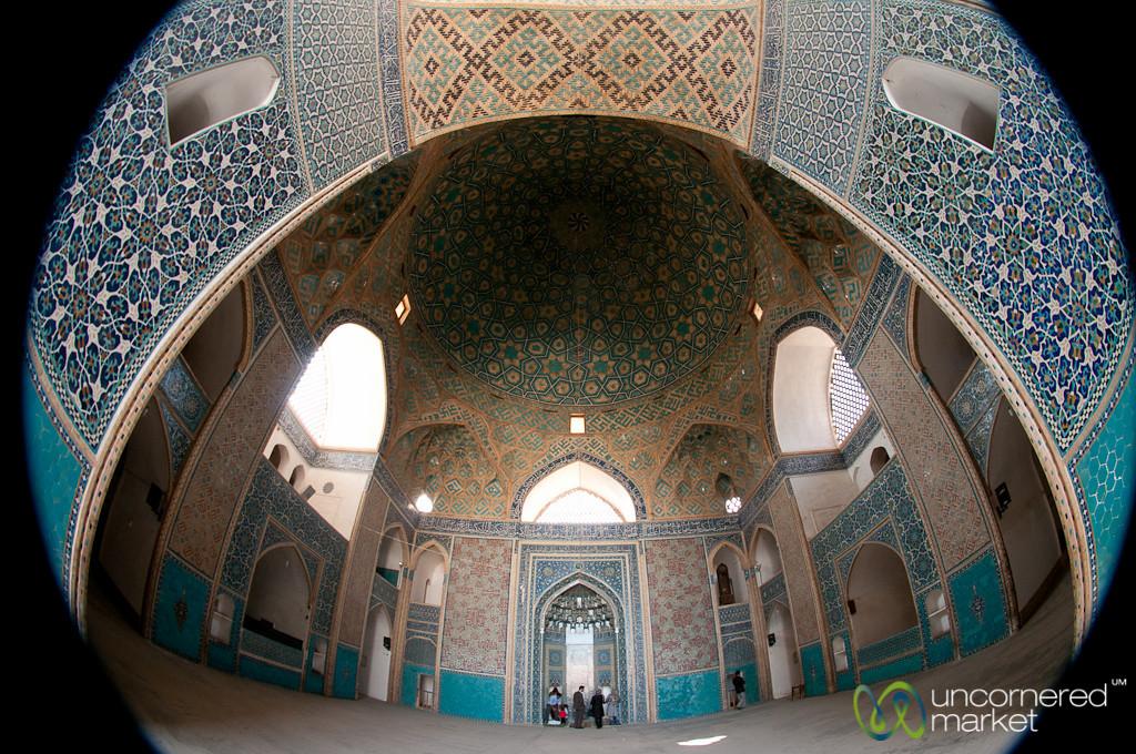 Fisheye Inside Jameh Mosque - Yazd, Iran