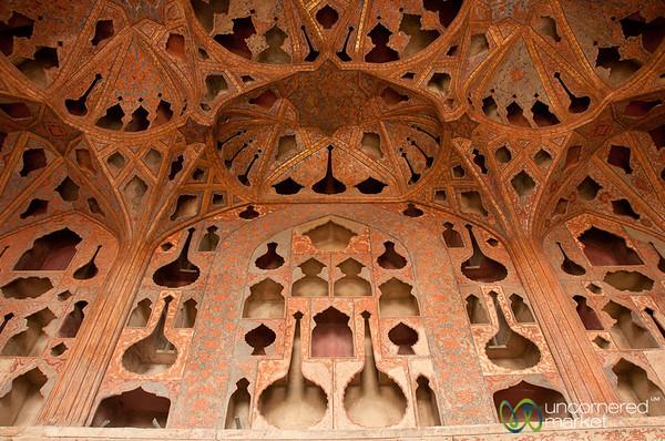Music Room at Ali Qapu Palace - Esfahan, Iran