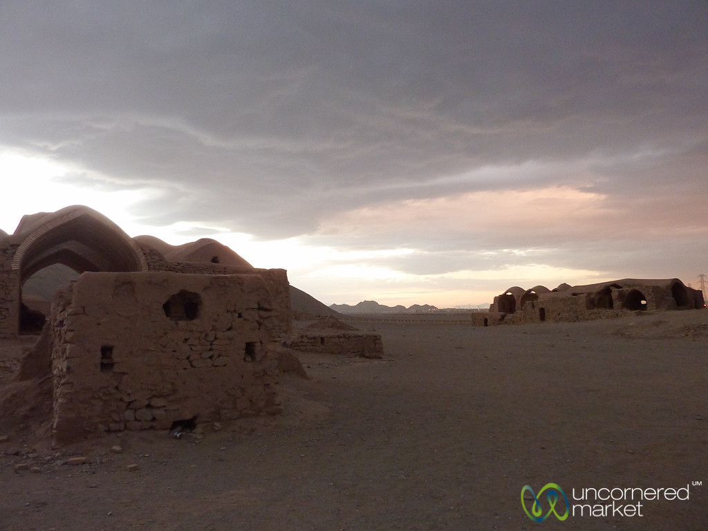 Zoroastrian Cemetery at Dusk - Yazd, Iran