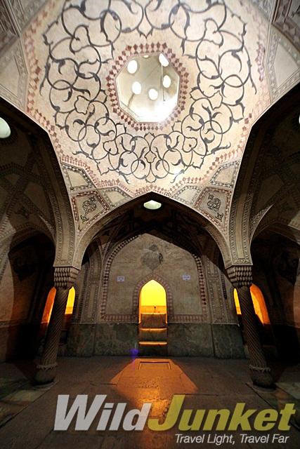Inside a palace in Shiraz