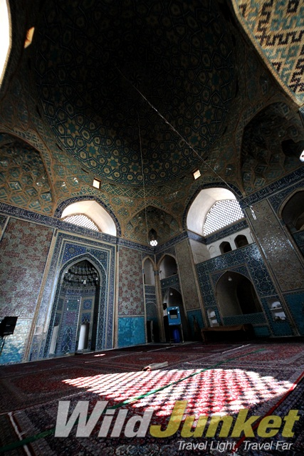Inside the Jameh Mosque at Yazd