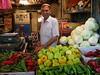 A merchant in the Beersheva market.