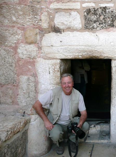 Entrance to Church of the Nativity Bethlehem Nov 2007 with Bill and John Bethlehem, Palestinian Authority,  2007