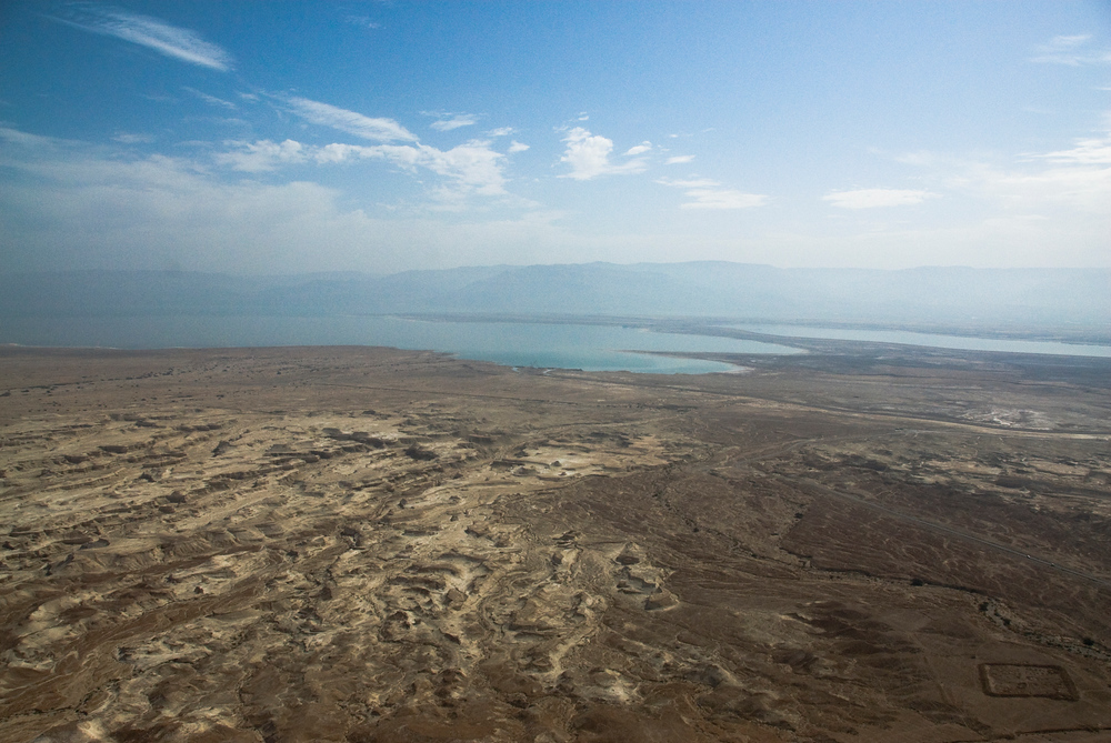 The Dead Sea as seen from Masada, Israel
