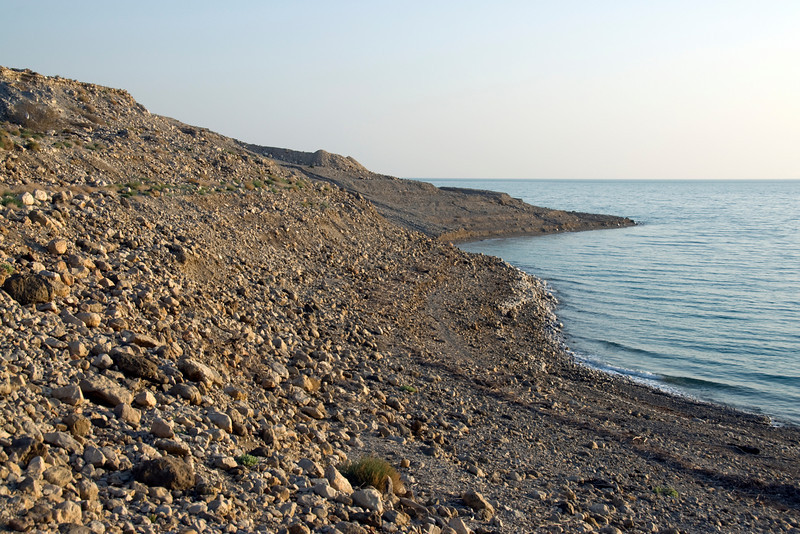 View of the Dead Sea shoreline in Israel