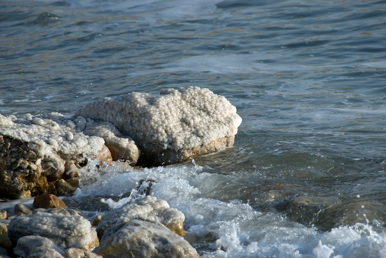 View of the shoreline of Dead Sea in Israel