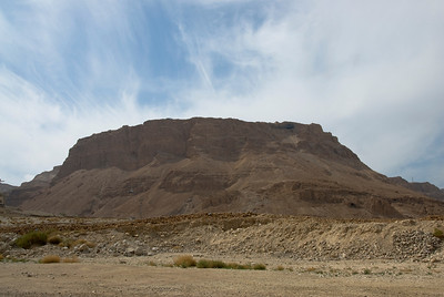 View of Masada from the ground - Israel